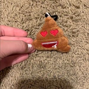 Poop emoji key chain
